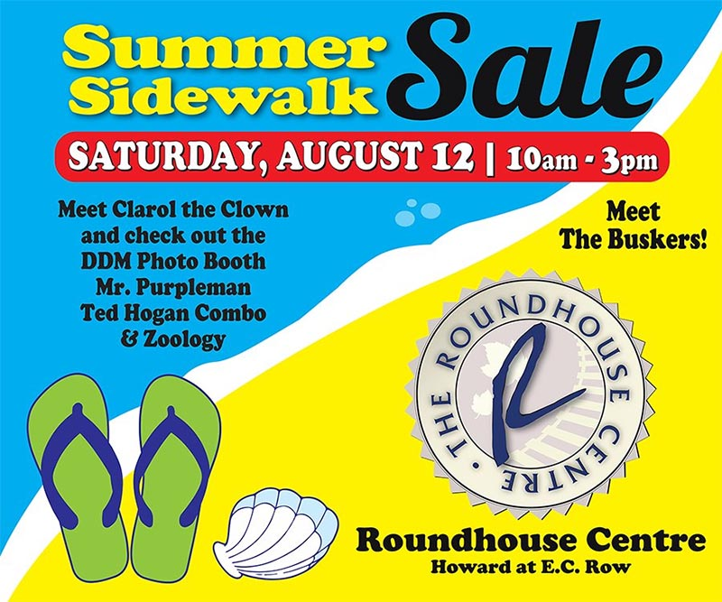 Sidewalk Sale at the Roundhouse Centre in Windsor.