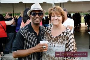 Dartis Willis (Windsor Express) and Kim McDonald at Bigg Wiggle Fest