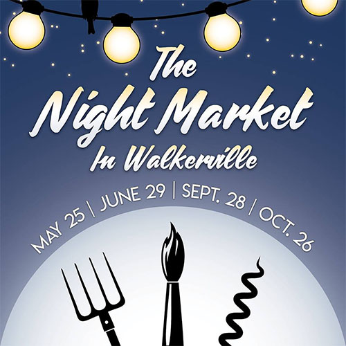 The Night Market in Walkerville Poster