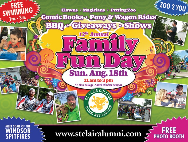 St. Clair College Family Fun Day Poster