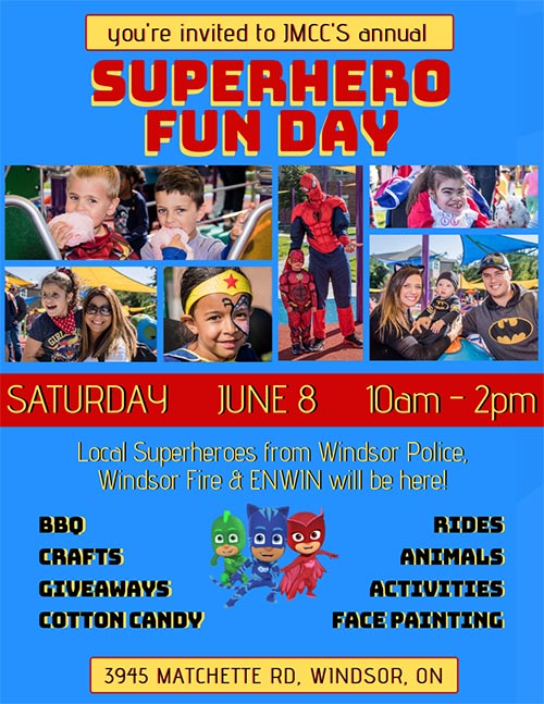 Super Hero Fun Day at Play McGivney Poster
