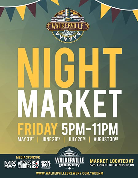 Walkerville Distiller District Night Market Poster