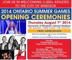 Ontario Summer Games Opening Ceremonies
