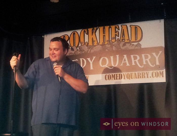 Comedy Quarry at Rockhead Pub host Josh Haddon on Stage.