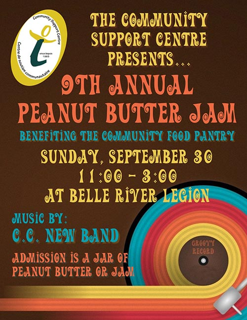 Community Support Centre of Essex County 8th Annual Peanut Butter Jam Poster