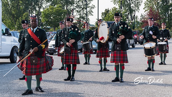 The Pipes and Drums Band of The Essex and Kent Scottish