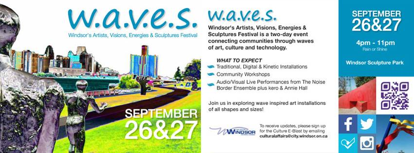 w.a.v.e.s Festival 2014 in Windsor's Sculpture Park