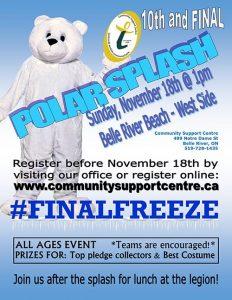 Belle River Polar Splash Poster