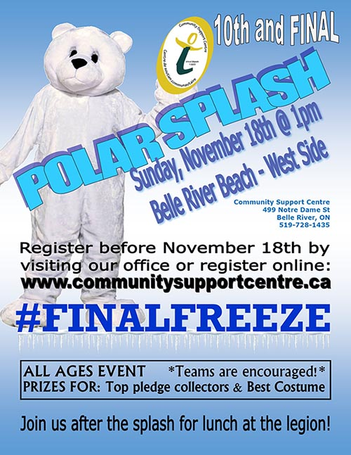 Belle River Polar Splash Poster