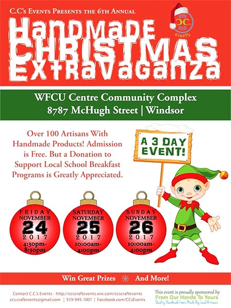 C.C.'s Events Handmade Christmas Extravaganza Craft Show & Sale Poster