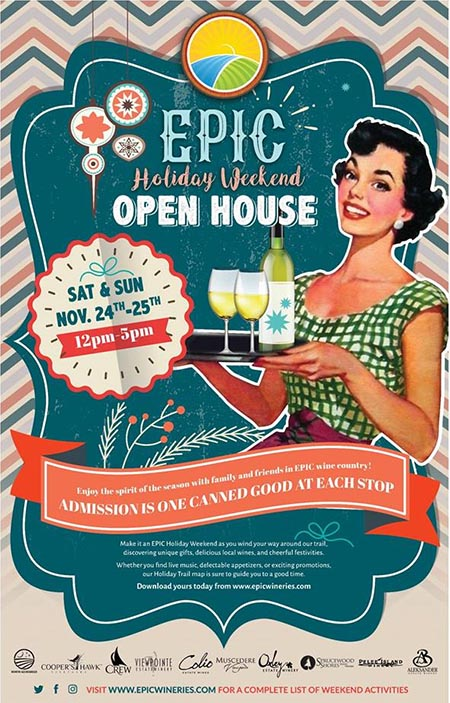 EPIC Wineries Holiday Weekend Open House Poster (Formerly Taste of the Season)