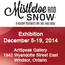 Mistletoe & Snow ACWR Members Art Show at Artspeak Gallery