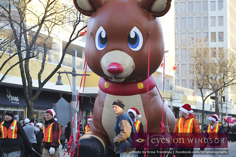Rudolph Inflatable at the Downtown Windsor Winterfest Parade