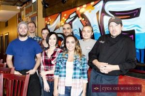 Snackbar-B-Q staff on opening day.