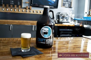 Craft Heads Brewing Company Growler.