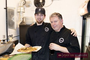 Chef Stu Martin and Chef Jamie Stone in the kitchen at Brew Windsor.