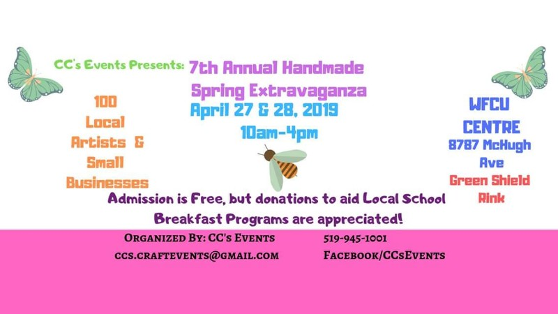 C.C.'s Events Handmade Spring Extravaganza Poster