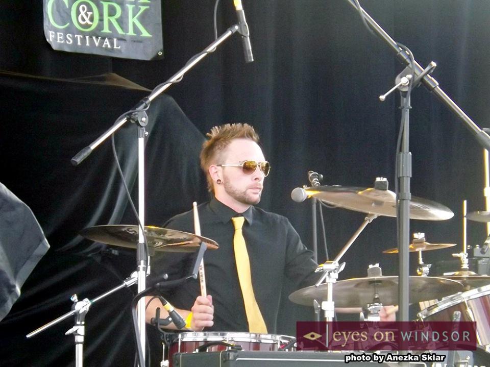 Cowboys in Cardigans Drummer Jordo Tough Performs at Windsor Fork and Cork Festival 2014