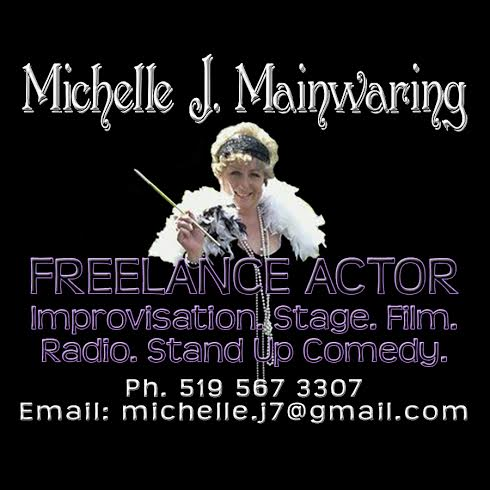 Michelle Mailwaring freelance actor and comedy.