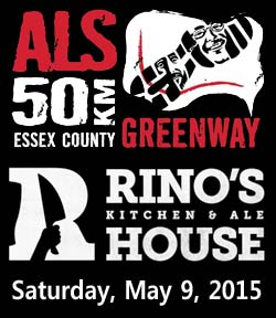 Windsor Essex ALS 50km and After Party at Rino's Kitchen and Ale House