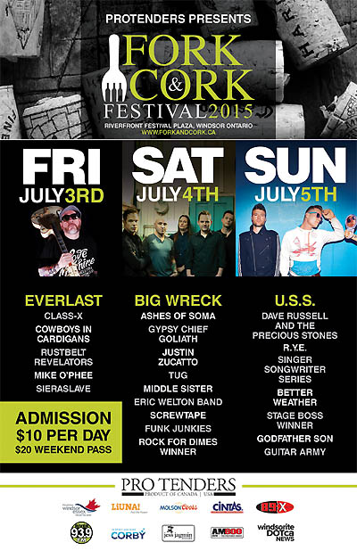 Windsor Fork and Cork Festival 2015 Poster