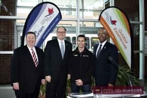 Gordon Orr, Mayor Drew Dilkens, Dane Cameron, and Charles Burns