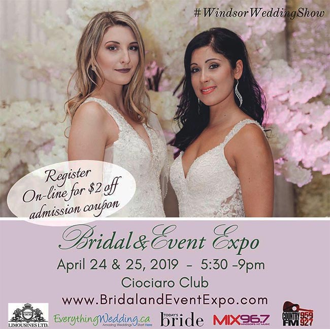 Spring Bridal and Event Expo 2017 Windsor