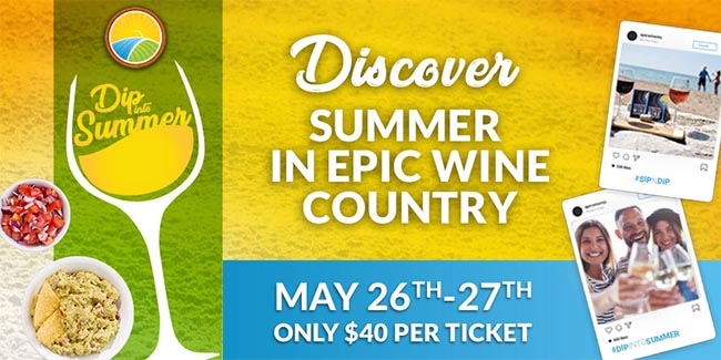 EPIC Wineries Dip Into Summer Weekend Banner