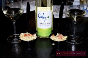 Oxley Estate Winery 2013 Reisling Paired With Lobster and Black Truffle Mac N Cheese