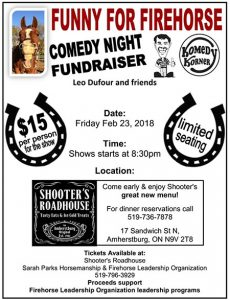 Leo's Komedy Korner on the road at Shooters, Firehorse Leadership Organization Fundraiser