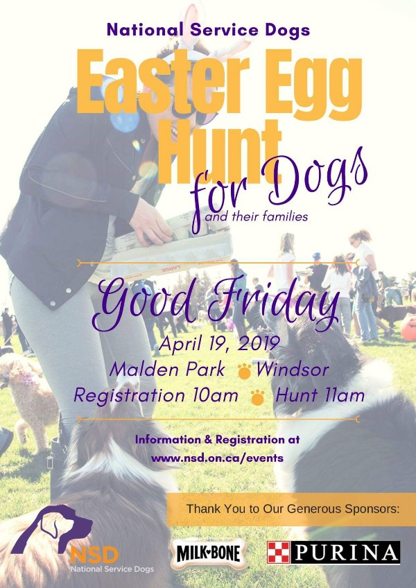 National Service Dogs Easter Egg Hunt Windsor Poster