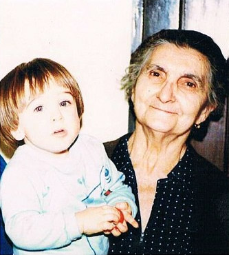 Joe Iatonna as a child with his nonna