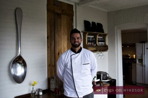 Chef Benjamin Leblanc co-owner of The Iron Kettle Bed & Breakfast