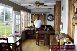 Chef Ben Leblanc inside Iron Kettle's Breakfast Dining Area.