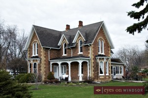 The Iron Kettle Bed & Breakfast's building is a large Victorian style home.