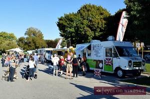 Truckin' Good Food Rally at Windsor's Sculpture Park