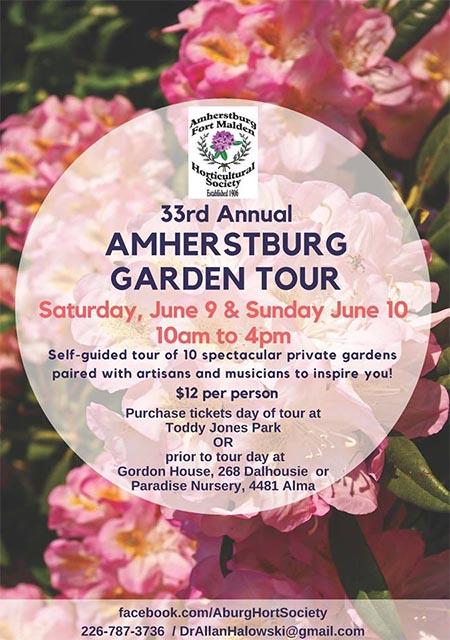Amherstburg Garden Tour & Stroll Poster