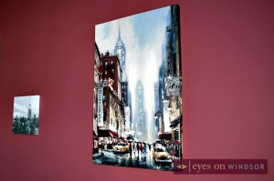 Big City Scene on Painting