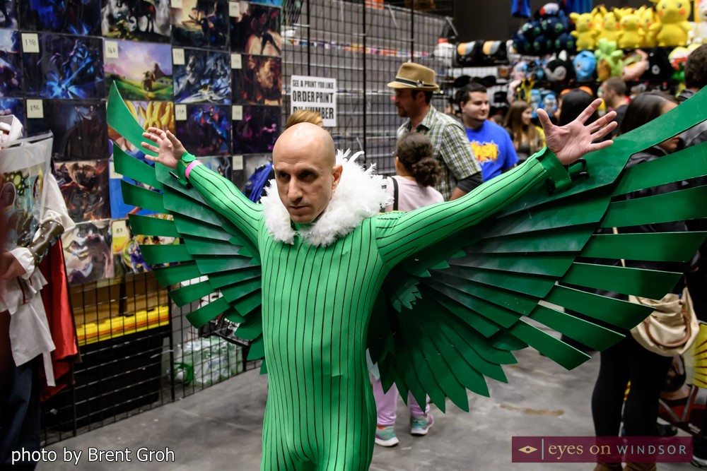Cosplayer dressed as the villain Falcon from Spiderman at Windsor ComiCon (photo by Brent Groh/Eyes On Windsor)