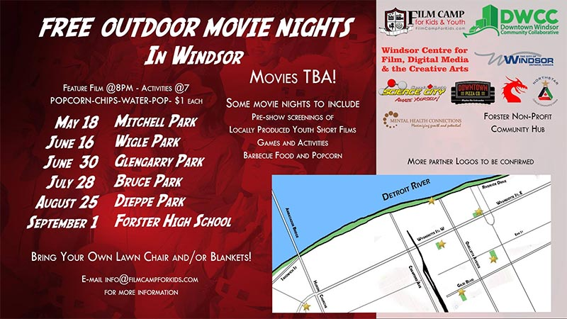 Windsor Film Camp For Kids Open Air Cinema Movie Night Poster