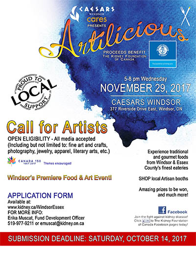 Artilicious Windsor Call To Artists Poster