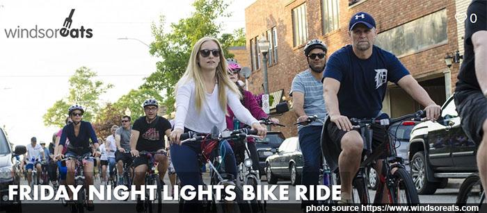 Friday Night Lights Bike Ride With Windsor Eats