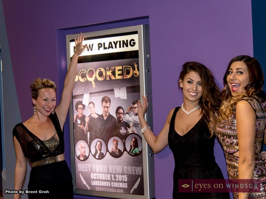 Ladies in front of Cooked Series Poster at Lakeshore Cinemas