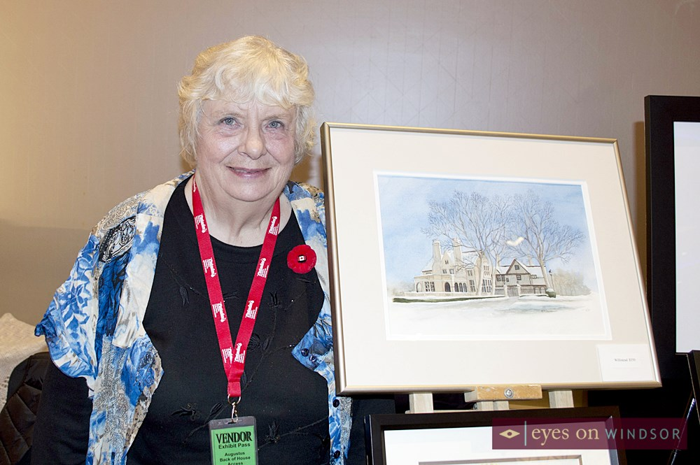 Artist Margaret Dawson shows her paintings at Artilicious 2015.