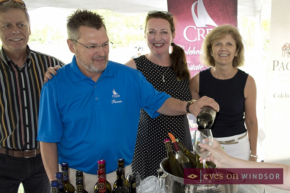 Bernard Gorski pours CREW's wine at EPIC Vintage Tasting.