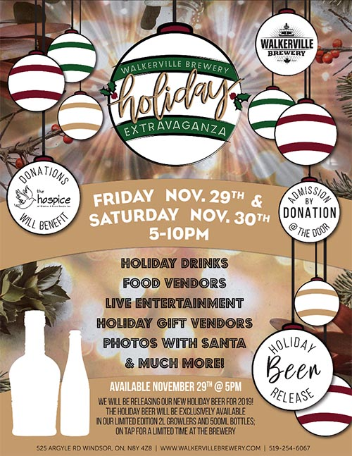 Walkerville Brewery Holiday Extravaganza Poster