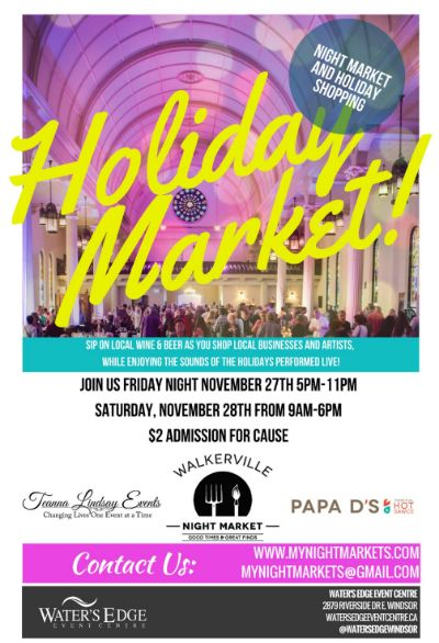 Walkerville Night Market Holiday Poster 2015