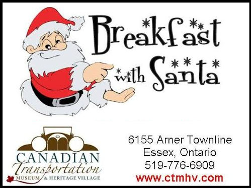 Breakfast with Santa at the Canadian Transportation Museum and Heritage Village