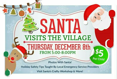 Santa Visits The Safety Village