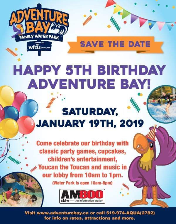 Adventure Bay Family Water Park Annniversary Birthday Poster